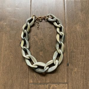 J crew hard plastic large chain necklace